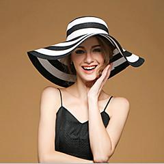 Γυναικείο Χαριτωμένο/Πάρτι/Καθημερινά Καλοκαίρι Λινό/Άχυρο Μαλακό Καπέλο