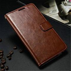 Mert Samsung Galaxy Note Kártyatartó / Pénztárca / Állvánnyal / Flip Case Teljes védelem Case Egyszínű Műbőr Samsung Note 3