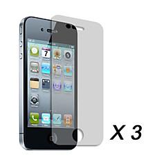 מסך ברור מגן סרטים עבור Apple iPhone 4 (3 יח')