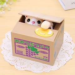 Grape Cat Electric Coin BankMoney Saving Box/Toy(2xAA)