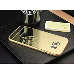 Special Design High quality Solid Color Metal Bumper Plating mirror Back Cover for Samsung S6