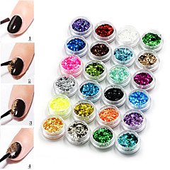 Vackert - Finger - Nagelsmycken / Dekorationsuppsättning - av Plast - 24 - styck 3*3*2cm - cm