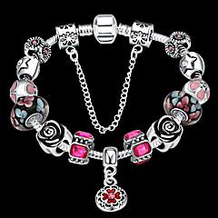 Women jewelry Strand Beads Bracelets Beads Glass Beads Charm Bracelets & Bangles 925 Silver European beads PH019