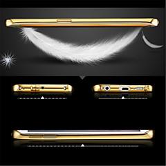 lusso placcato struttura in metallo aggiunge coperture del telefono copertura del pc trasparente per la galassia s6edge