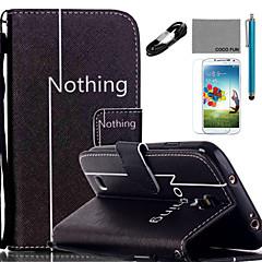 Na Portfel / Etui na karty / Z podpórką / Flip / Wzór Kılıf Futerał Kılıf Napis Twarde Skóra PU Samsung S5 Mini / S5 / S4 Mini / S4