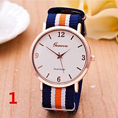 Woman And Man Fashion Nylon With Ultra-Thin Wrist  Watch