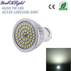 7W GU10 Faretti LED A50 48 SMD 2835 600 lm Luce fredda Decorativo AC 220-240 / AC 110-130 V 1 pezzo
