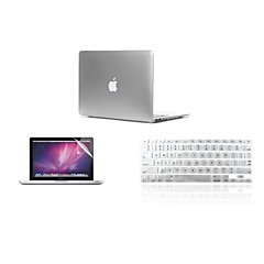 """3 i en ultratunn lättmetall färg täcker fallet + tangentbord lock + skärmskydd för MacBook Air 11 """"retina 13"""" / 15 """""""