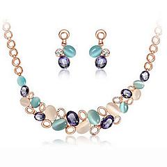 Dames Sieraden Set Modieus leuke Style Kostuum juwelen Opaal  Oorbellen Ketting Voor Feest Speciale gelegenheden  Verjaardag Giften van