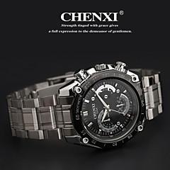 CHENXI® Herre Armbåndsur Quartz Japansk Quartz Afslappet Ur Rustfrit stål Bånd Sølv