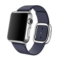 Watch band til Apple Watch moderne spænde ægte læder udskiftning bånd stropp størrelse m