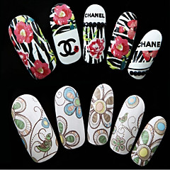 1pcs Flower Nail Water Transfer Stickers