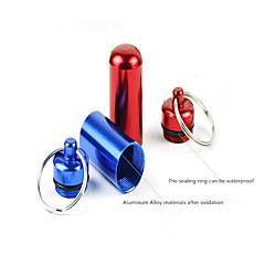 pigułka Case / Apteczka / Obudowa wodoodporna Turystyka / Kemping / Podróże / Obuwie turystyczne Wielofunkcyjny aluminiowaCzerwony /