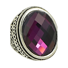 Big Single Colored Stone Ring
