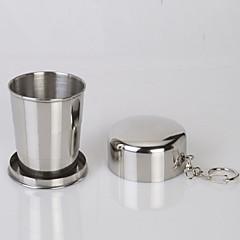acier inoxydable rétractable sport bouilloire portable pliantes tasses