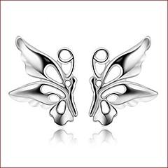 925 Silver Sterling Silver Jewelry Earrings Sample Butterfly Stud Earring 1Pair