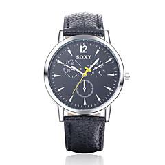 Masculino Relógio de Pulso Quartz Couro Banda Preta / Branco / Azul marca