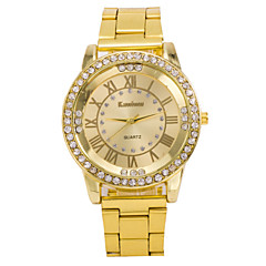 Men's Fashion Watch The Latest Trend Of Diamond And Gold Steel Quartz Watch Business