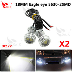 2 X 9W LED Eagle Eye Light Car Fog DRL Daytime Reverse Backup Parking Signal
