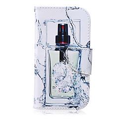 padrão Frasco de perfume caso pu material de couro de telefone para Samsung Galaxy S4 / S5 / S6 / s6edge / S6 borda + / s3 mini mini / S4