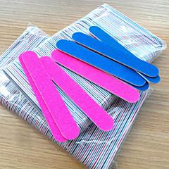 5pcs aprietan profesional tampón limas de uñas pulir color al azar delgada media luna de arena fichero herramientas del clavo del clavo