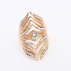 Women's New European Style Fashion Multilayer Shiny Rhinestone Band Ring