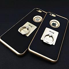 Voor iPhone 6 hoesje / iPhone 6 Plus hoesje Ringhouder hoesje Achterkantje hoesje Effen kleur Hard MetaaliPhone 6s Plus/6 Plus / iPhone