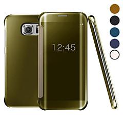 klare Sicht Flip Fall UVspiegel PC-Festtelefonabdeckung intelligente Fall für Samsung-Galaxie s7 + / s7 Rand / s7 / s6 Rand + / s6 Rand /