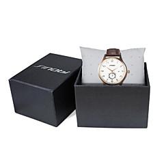 SINOBI Męskie Zegarek na nadgarstek Kwarcowy Kalendarz Wodoszczelny Sportowy Skóra Pasmo Ekskluzywne Brązowy Brown