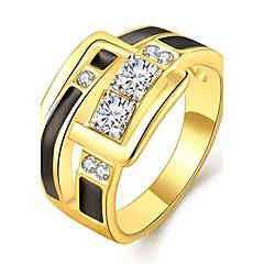Anello Gioielli Placcato in oro Placcato oro rosa 18K oro imitazione diamante Oro Rose GioielliMatrimonio Feste Halloween Quotidiano