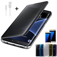 קריסטל במראה במקרה גוף מלא עבור Samsung Galaxy S6 / S6 קצה / S6 קצה + / S7 / S7 קצה / S7 קצה פלוס + כבל USB