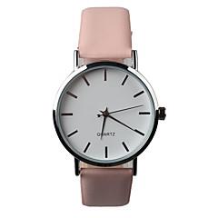 Mulheres Relógio de Moda Quartz PU Banda Rosa marca-