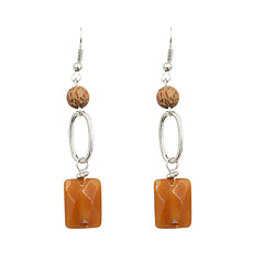 Earring Drop Earrings Jewelry Women Wedding / Party / Daily / Casual / Sports Alloy / Agate / Wood 1 pair Gold