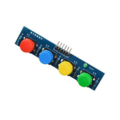 4-key knop module sensor extern toetsenbord module voor Arduino + framboos pilot blue