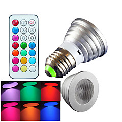1 pcs SchöneColors E26/E27 4W High Power LED Dimmable / Remote-Controlled / Decorative RGB LED Spotlight AC 100-240 V