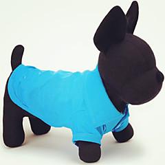 Gatos / Perros Camiseta Rojo / Verde / Azul / Rosado / Amarillo / Naranja Verano Un Color Boda / Cosplay
