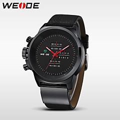 WEIDE Hombre Reloj de Pulsera Cuarzo Cuarzo Japonés Resistente al Agua Piel Banda Negro Negro Plata Rojo