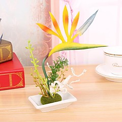 Polyesteri Strelitzia Keinotekoinen Flowers