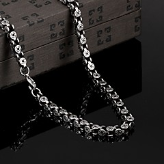 Personality in Europe and America to Restore Ancient Ways Exaggerated Titanium Steel Necklaces Christmas Gifts