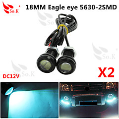 2 x ice 9w johti Eagle Eye kevyt auto sumu huomiovalot päivällä kääntää varmuuskopio pysäköinti signaali 12v