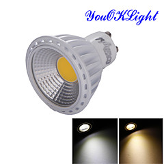 YouOKLight® GU10 6W COB LED Spotlight Warm White /White 600lm (100~120/220~240/85~265V)