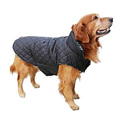 Koirat Takit Liivi Punainen Vihreä Ruskea Beige Koiran vaatteet Talvi 봄/Syksy Ruudullinen Pidä Lämmin Käännettävä