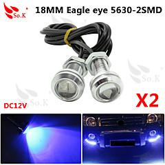 2x 23mm 9W blå førte eagle eye kørelys DRL backup lys tåge bil auto 12v