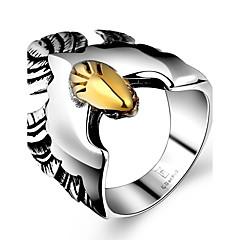 generosa individuo anillo no de los hombres de piedra decorativa águila de acero inoxidable (negro) (1 unidad)