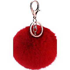 装飾袋のギフト用のポンポン楽しいボールキーチェーン