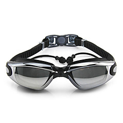 Úszás Goggles Páramentesítő Állítható méret UV-védő Vízálló Szilícium-dioxid gél PC Fehér Szürke Fekete KékRózsaszín Szürke Fekete