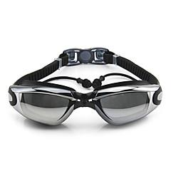 Goggles Πισίνα Κατά της ομίχλης Ρυθμιζόμενο μέγεθος Προστασία-UV Αδιάβροχη Πυριτικής Πηκτής PC Λευκό Γκρίζο Μαύρο ΜπλεΡοζ Γκρίζο Μαύρο