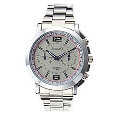 Zhongyi Z - 819 Male Quartz Watch Round Dial Alloy Watchband