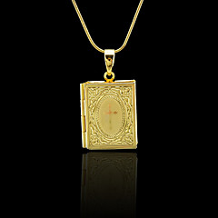Necklace Lockets Necklaces Jewelry Wedding / Party / Daily / Casual / Sports Gold Plated Gold 1pc Gift