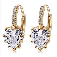 Dame Cercei Picătură Iubire La modă costum de bijuterii Zirconiu Zirconiu Cubic Placat Auriu Bijuterii Pentru